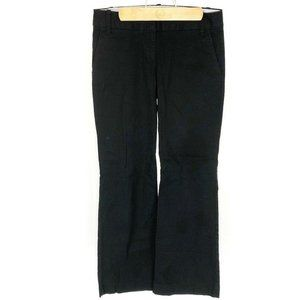 (N2-08) J Crew Size 6S Black Pants Bootcut